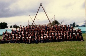 143 Scouts from Malahide camp at the Irish Scout Jamboree, Portumna - 1985