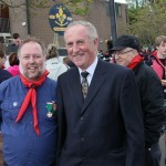 Gerard with our guest Councillor Coyle