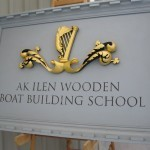 The AK ILEN wooden boating building school in Limerick City