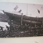 Original launching of AK Ilen in West Cork in 1927