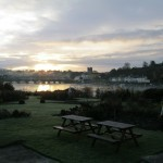 Capturing the early  view over the River Shannon from our venue