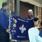 The origin of the World Centennial Sea Scout flag