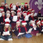 Carol singing by the Beavers