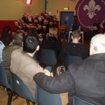 Parent&#039;s and friend&#039;s  attending the carol singing at the Friday Night&#039;s Beaver