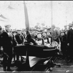 Sea Scouts Launching a Coastguard Cutter at Bray in 1912