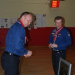 Colin Lynch presented Thanks Badge by Group Leader Robert