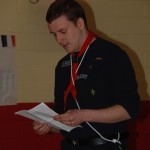 Skipper Clancy presents Wednesday Nights Scouts Annual Report