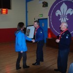 Presentation to Elaine Dunne ,pass Group Secretary