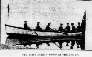 Dublin  Sea Scouts - rowing a coastguard cutter in 1912