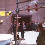"Unveiling of plaque to Open ""The Den"" 1985"